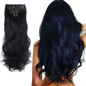 3-5 Days Delivery 7Pcs 16 Clips 60cm Wavy Curly Full Head Clip in on Double Weft Hair Extensions