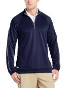 adidas Golf Men's 3-Stripes Piped 1/4 Zip Shirt