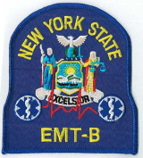 New York State EMT B patch