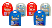Set of 6 First Aid Emergency Kits - Each Kit 35 Pieces