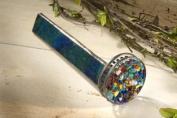 J Devlin Kal 106 Stianed Glass Kaleidoscope Forest Green Barrel and Two Colourful Wheel
