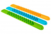 Spiky Sensory Slap Bands (Set of 3) Fidget Toy Bracelet for Children and Adults - BPA/Phthalate/Latex-Free