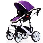 Baby carriages High View Foldable Anti-shock Convenience Lightweight Swivelling Wheels Stroller Travel System