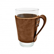 Rustic Leather Pint Sleeve with Handle Handmade by Hide & Drink :