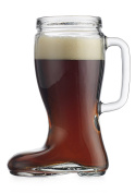 Recycled Glass Oktoberfest Style 680ml Handled Pitcher Drinking Beer Boot Das Boot