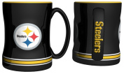 Pittsburgh Steelers 440ml Sculpted Logo Relief Coffee Mug by Boelter
