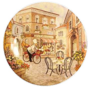 6 Piazza Melamine Hors D' Oeuvre Plates