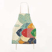 FSK Lovely Cartoon Pattern Apron Cotton Canvas Kids Apron Chef Kitchen Cooking Apron for Child