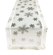 Fennco Styles Burnout Snowflake Holiday Table Runner, 41cm x 180cm