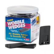 Wobble Wedge - Hard Black - Restaurant Table Shims - 30 Piece Jar