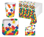 Building Blocks Deluxe Party Pack Kit for 16 by BirthdayExpress