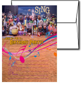 12 SING Birthday Invitation Cards (12 White Envelops Included) #1
