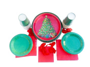 Christmas Party Supplies /Party Paper Plates and Napkins Bundle