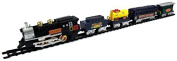 Tram Express Battery Operated Toy Train Set w/ 5 Train Cars, Train Station by Velocity Toys