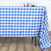 Urby Chequered 180cm Square Polyester Tablecloths White and Blue