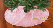 Pink-Sequin-Tree Skirt-120cm Christmas Tree Shirt,Embroidered and Sequined Mesh Thanks Giving Holiday Decor