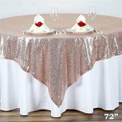 180cm X72 Inch Grand Duchess Sequin Table Overlays - Blush