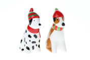 Christmas Pup Salt and Pepper Shakers