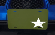 White Star on Green Background Aluminium Licence Plate for Car Truck Vehicles