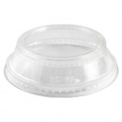 World Centric Ingeo 8.5l and 710ml Cup Clear Lid with Souffle Holder -- 1000 per case.