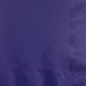 Creative Converting 1200 Count Case Touch of Colour 2-Ply Paper Beverage Napkins, Purple