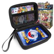 FitSand (TM) Travel Zipper Carry EVA Hard Case for Pokemon Trading Cards - Black Box, Blacker Box, Best Protection for Pokemon Cards