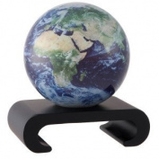 11cm Satellite View with Cloud Cover MOVA Globe with Arched Base in Black