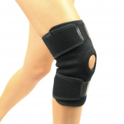 Knee Brace by Vive - Best Support Brace for Knee Pain Problems like Arthritis in Ligaments, ACL Issues, Hyperextension and More - Tighly Wraps Swollen Knees and Secures Joints - Vive Guarantee