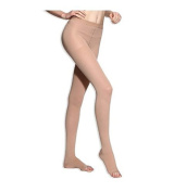 BriteLeafs Sheer Compression Pantyhose 20-30 mmHg, Firm Support, Open Toe