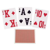 Elite Braille Low Vision Playing Cards-Red-Single