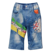 Rock'nStyle Baby Boys Light Blue Colourful Patches Pockets Denim Pants 18-24M