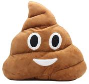 ANJAYLLIA Poop Face Emoji Plush Pillow Round Cushion Toy, 32 cm