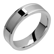 Alia stunning titanium ring with beaded edge comfort fit 4mm wide polished wedding band
