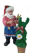 Kurt Adler Fabriche In The Garden Santa