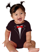 Infant Baby Tuxedo One Piece in Black, Black