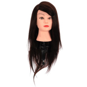 Serda Hairdressing Brown Colour Professional 50% Real Hair 60cm Training Mannequin Head Hairdresser Training Head With Clamp