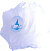 Bathroom Beauty Bath & Body Buff Cleaning Showering Tool Pack Of 12 50g White