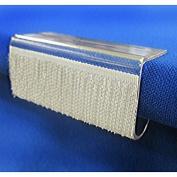Hook Fastener Table Skirting Clip (EC) for 1.3cm to 2.5cm Table Edge by TableLinensforLess - 25 Pack