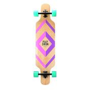 Playshion Freeride Freestyle Drop Through Longboard Skateboard Complete