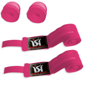 Pink Hand Wraps Boxing MMA UFC HAND Wraps Wrist Support Guards Pair