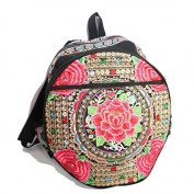 Handmade Vintage Bohemian Boho Hippie Gypsy Indian Hmong Tribal Ethnic Handbag Shoulder Bag Backpack (BP002) - Shipped by Fedex FREE