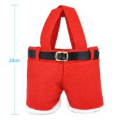 Veroda Christmas Red Cute Sweet Pouch Treat Santa Pants Gift Candy Bag