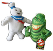 Stay Puft Marshmallow Man 33cm & Slimer Ghost 25cm Pack 2x Soft Toys Serie Ghostbusters 3 Large White Sailor Cap Original Plush Doll Toy Character Serie