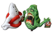 Logo Ghost 30cm & Slimer Frightened Ghost 25cm Pack 2x Soft Toys Serie Ghostbusters 3 Original Plush Doll Toy Character Serie Red No Entry Sign