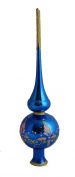 Christmas Tree Topper Ariadne, Glass, Hand-painted and hand-blown, 25cm