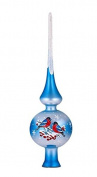 Glass Christmas Tree Topper Birds, Glass, Hand-painted and hand-blown, 25cm , Finial Tree Topper
