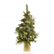 Mixed Pine Tree 60cm 60T Leaves/Pico/Berrys/Ceramic Pot