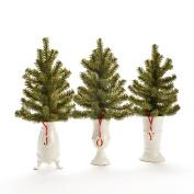 Mixed Pine 33cm Ceramic Pot 3 Styles Assorted