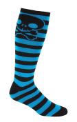MOXY Socks Skater Skull Knee-High Striped Deadlift Socks