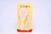 sb03587 Clear Baby Soft and Peaceful Of White Hair Brush and Comb Set